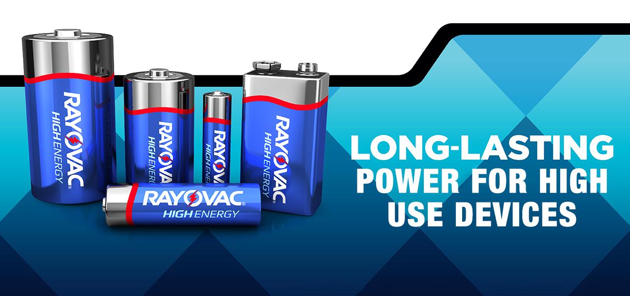 RAYOVAC® high energy long lasting